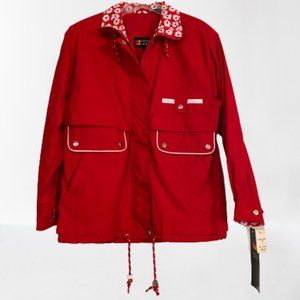 NWT Vintage Red Floral 80s/90s Jacket | Andy Johns